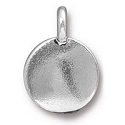 Blank Charm with Loop 11.6m Antique Silver Plated (1-Pc)