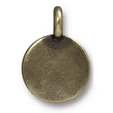 Blank Charm with Loop 11.6m Antique Brass Plated (1-Pc)