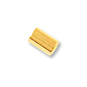 3mm Gold Plated Stretch Cord Crimp Tube (80-Pcs)