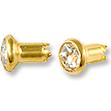 Swarovski Chaton Rivets 4mm Crystal Gold Brushed Finish (1-Pc)