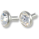 Swarovski Chaton Rivets 8mm Crystal Silver Brushed Finish (1-Pc)