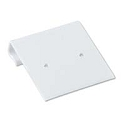 Hanging Earring Card White Ribbed 1x1 (100-Pcs)