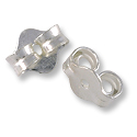 Lightweight Ear Backs Sterling Silver Filled (4-Pcs)