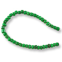 Fulani Tribe Seed Beads 4mm Emerald Green (22