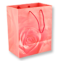 Matte Rose Red 7x9 Tote Gift Bag
