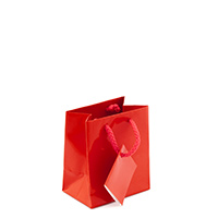 Glossy Red 3x3 Tote Gift Bag