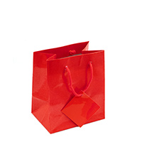 Glossy Red 4x4 Tote Gift Bag