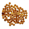 Glass Round Bead 4mm Amber (100-Pcs)