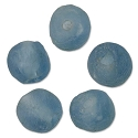 Recycled Glass Beads Light Blue 13mm (5-Pcs)