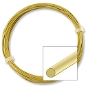 German Style Satin Brass Round Wire 24ga