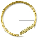 German Style Wire Square Non-Tarnish Brass Plated 22ga