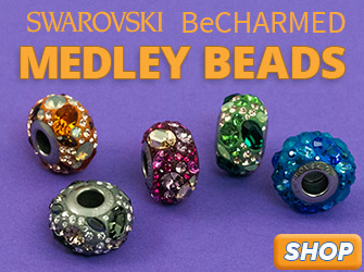 New Swarovski BeCharmed Medly Beads are available at JewelrySupply.com