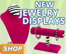 New Zebra Print Jewelry Displays