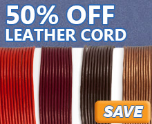 Our entire inventory of Natural Leather Cord is now on sale at JewelrySupply.com