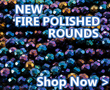 Shop our new Fire Polished Round Beads in stock now at JewelrySupply.com