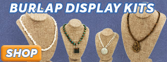 Burlap Jewelry Display Necklace Bust Kits available at JewelrySupply.com