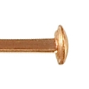 Rose Gold Filled 1-½ Inch Head Pin 24 Gauge (1-Pc)
