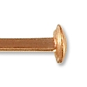 Rose Gold Filled 2 Inch Head Pin 24 Gauge (1-Pc)