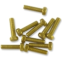 Hex Head Brass Screw #0-80 1/4