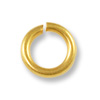Jump Ring Open 6mm Satin Hamilton Gold Plated (50-Pcs)