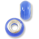 Large Hole Cats Eye Bead 14x8mm Light Blue (1-Pc)