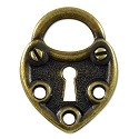 Lock Pewter 23x18mm Link Antique Brass Plated