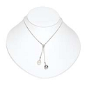 Low Profile Necklace Bust Jewelry Display White 7-3/4