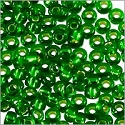 Miyuki Round Rocaille Seed Bead 11/0 Silver Lined Kelly Green (3 Gram Tube)
