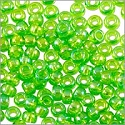 Miyuki Round Rocaille Seed Bead 11/0 Transparent Light Green AB (3 Gram Tube)