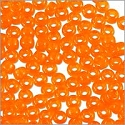 Miyuki Round Rocaille Seed Bead 11/0 Transparent Orange (3 Gram Tube)