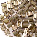 Miyuki Delica Seed Bead Hex Cut 8/0 Transparent Gold Luster Smoked Topaz (3 Gram Tube)