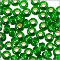 Miyuki Round Rocaille Seed Bead 8/0 Silver Lined Emerald  (3 Gram Tube)