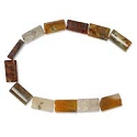 Mixed Jasper 14x8mm Pillow Beads (16