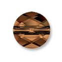 Swarovski Mini Round 5052 Crystal Bead 6mm Smoked Topaz (1-Pc)