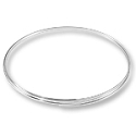 Flat Necklace Memory Wire Silver Plated Steel 1/3oz.