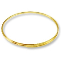 Flat Necklace Memory Wire Gold Plated Steel 1/3oz.
