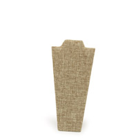 Burlap Narrow Necklace Stand
