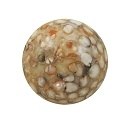 Organic Round Bead Sorghum Seed and Resin 26mm