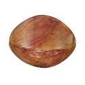 Organic Laminated Puffed Oval Bead Red Onion Skin 34x24mm