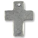 Cross Pendant 18x15mm Pewter Antique Silver Plated