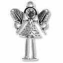 Fairy Pendant 36x24mm Pewter Antique Silver Plated (1-Pc)