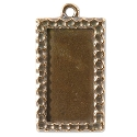 Rectangle Picture Frame 34mmx18mm Pewter Antique Copper Plated (1-Pc)