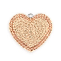 Swarovski Pave Heart Pendant 67412 20mm Light Peach (1-Pc)