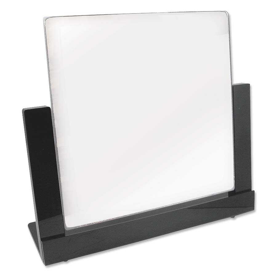 Pivoting counter top mirror black trim jewelry display for Mirror questions