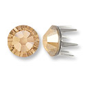 Swarovski Rose Pins 5mm Crystal Golden Shadow Stainless Steel (6-Pcs)