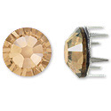 Swarovski Rose Pins 7mm Crystal Golden Shadow Stainless Steel (1-Pc)