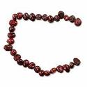 Freshwater Potato Pearl Nuggets Cranberry 4-4.5mm (16