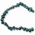 Freshwater Potato Pearl Nuggets Dark Teal 4-5mm (16