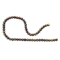 Freshwater Potato Pearls Peacock Brown 8-9mm (16
