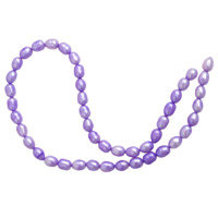 Freshwater Rice Pearls Lavender 7-8mm (16
